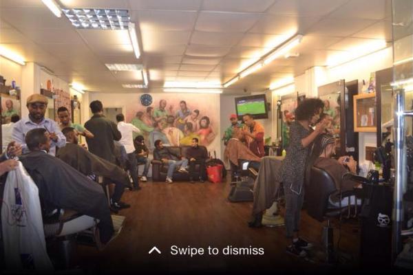3D Afro & European Unisex Salon Banner
