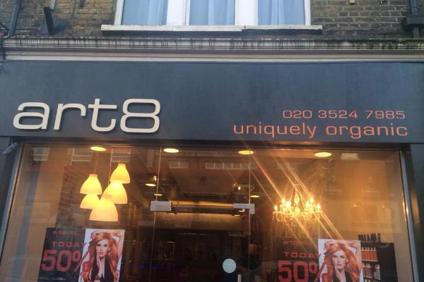 Art 8 Organic Hairdressing Banner